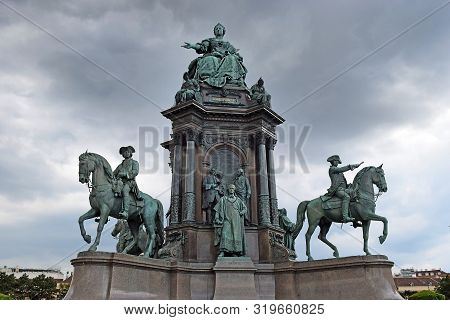 Empress Maria Theresia Of Habsburg Monument At Maria-theresien-platz In Vienna, Austria