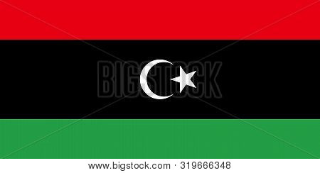 Flag Of Libya Vector Illustration, Worlds Flags Collection