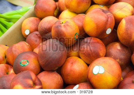 Nectarines At The Grocery Store