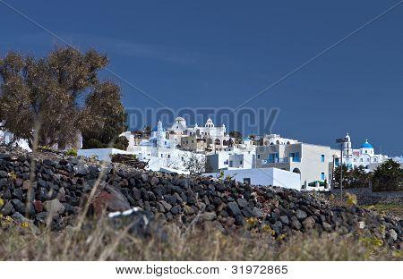 Pirgos village at Santorini, Greece