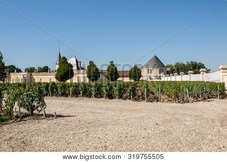 Margaux, France - September 11, 2018:  Chateau Marojallia In Margaux, Known For Producing Excellent