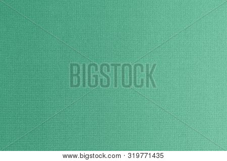 Fine Authentic Silk Fabric Wallpaper Texture Pattern Background In Shiny Vivid Green Color Tone