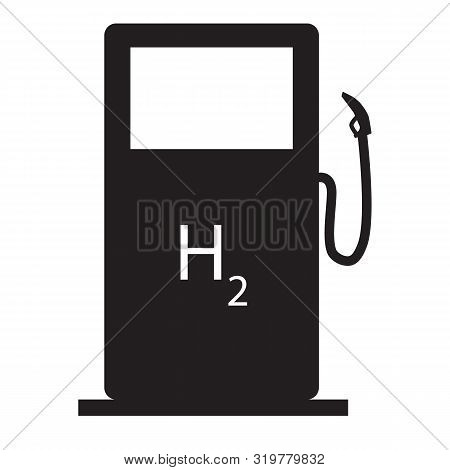 Hydrogen Filling Station Icon On White Background. Flat Style. Hydrogen Pump Icon For Your Web Site