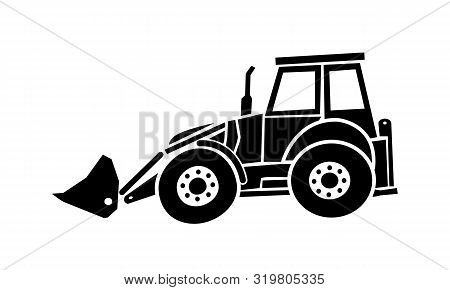 Excavator Heavy Machinery Icon Drawing By Illustration.excavator Heavy Machinery Pictograph Icon Ima