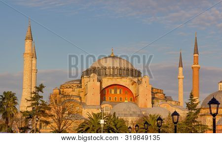 Hagia Sophia The Famous Byzantine Cathedral Now A Museum, Istanbul, Turkey.