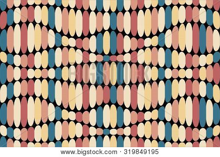 Abstract Geometric Background. Distorted Shapes, Different Colors. Seamless Texture