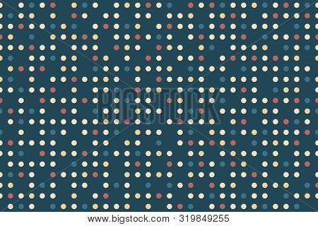 Seamless Texture Of Dots Of Different Colors. Background For Substrates For Printing Products. Textu