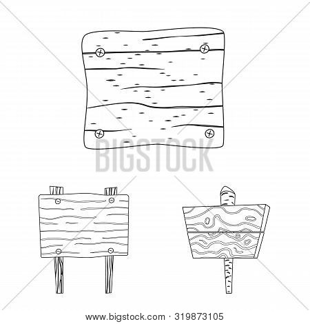 Vector Illustration Of Hardwood And Material Logo. Set Of Hardwood And Wood Stock Vector Illustratio