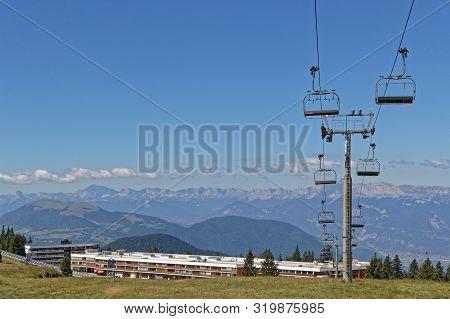 Chamrousse, France, July 12, 2019 : Chamrousse Is A Ski Resort In The Belledonne Mountain Range Near