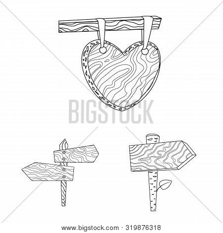Vector Design Of Hardwood And Material Icon. Set Of Hardwood And Wood Stock Symbol For Web.