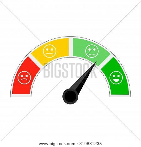 Indicator Of Credit Afford, Indicating Level Trust. Credit Score For Get Loan And Mortgage. Colorful