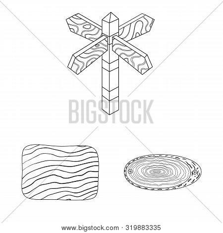 Vector Design Of Hardwood And Material Symbol. Set Of Hardwood And Wood Stock Symbol For Web.