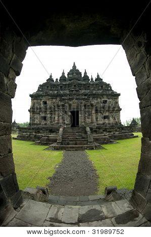 View of Temple through Doorway