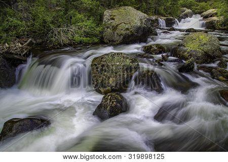 Rushing Colorado Mountain Stream