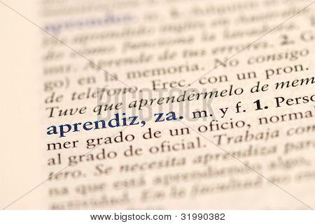 Spanish word for Apprentice