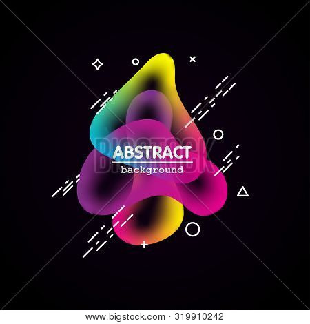 Motion Amoeba Fluid Abstract Background Paper Cut. Liquid Bubble For Logo Text. Book Cover Modern Ba