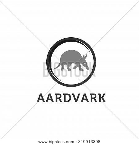 Aardvark Animal Sketch Engraving Vector Illustration. Scratch Board Style Imitation. Hand Drawn Imag