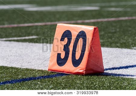 Football 30 Yard Line Is Shown Just Outside The Sideline.