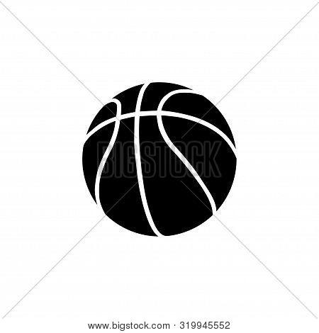 Vector Basketball Icon. Basketball Ball Icon. Black Basketball Isolated On White Background