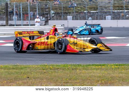 August 30, 2019 - Portland, Oregon, USA: RYAN HUNTER-REAY (28) of the United States  practices for the Grand Prix of Portland at Portland International Raceway in Portland, Oregon.