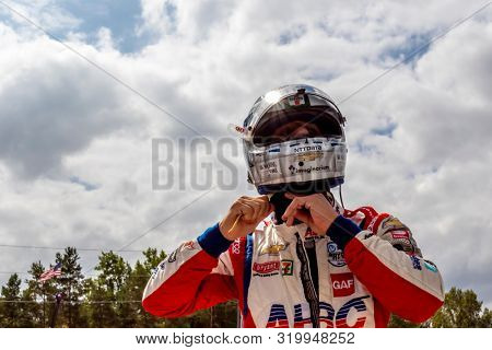 August 30, 2019 - Portland, Oregon, USA: TONY KANAAN (14) of Salvador, Brazil  practices for the Grand Prix of Portland at Portland International Raceway in Portland, Oregon.