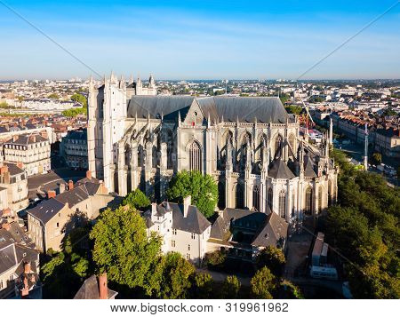 Nantes Cathedral Or The Cathedral Of St. Peter And St. Paul Of Nantes In Nantes City, Pays De La Loi