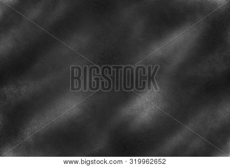 Dark Noise Texture. Gritty Grunge Background With Black Paint Spots On Paper