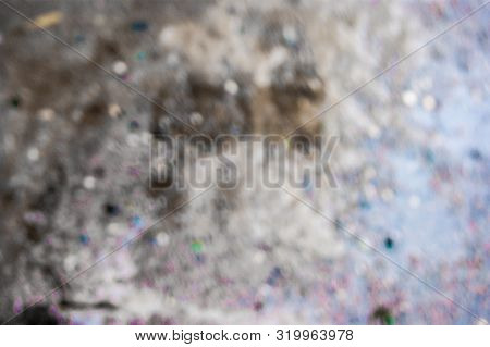 The Texture Of The Bubbles In The Puddle - An Illustration Of The Photo. Defocus, Defocus, Blur, Bro