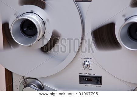 Open Metal Reels With Tape For Professional Sound Recording