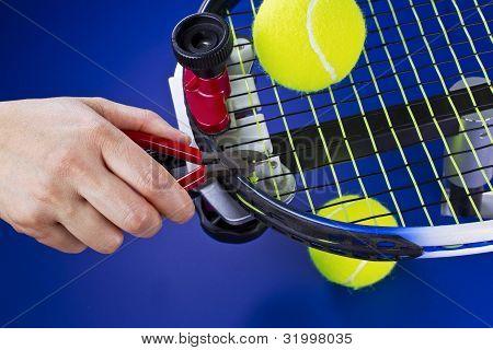 Mantenimiento de raqueta de tenis