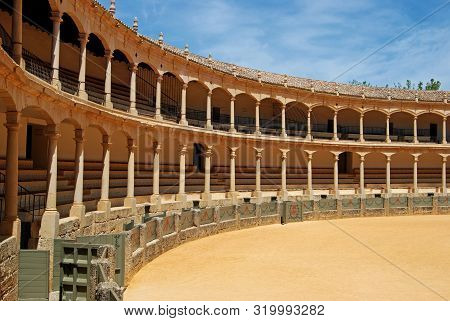 Ronda, Spain - May 5, 2008 - View Inside The Famous Bullring Built In 1785 And The Oldest In Spain,