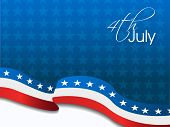 American Flag, Vector background for Independance Day and other events. Illustration in EPS 10. poster