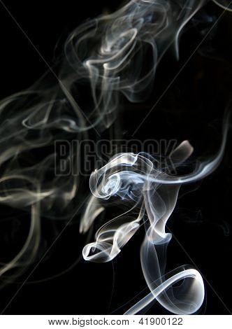 Smoke On A Dark Background.