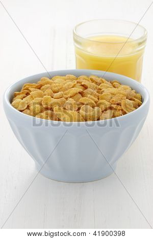 Delicious Corn Flake Breakfast