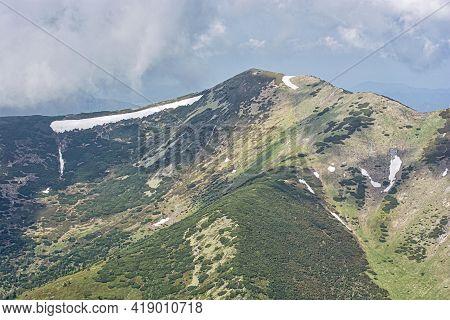 Little Krivan Peak, Little Fatra, Slovak Republic. Hiking Theme. Seasonal Natural Scene.