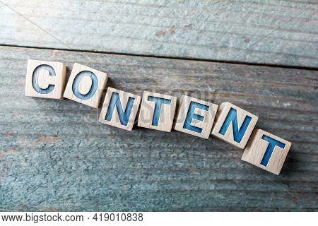 Content Written On Wooden Blocks On A Board