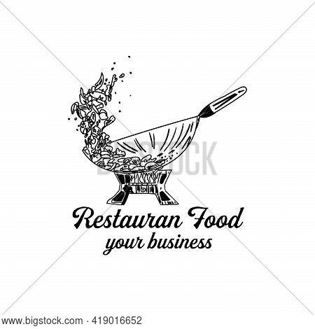 Seafood Design Logo Vector. Seafood Restaurant Design Vector