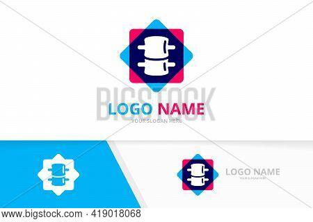 Medical Diagnostic Spine Center Logo. Spinal Diagnostic Center Logotype Design Template.