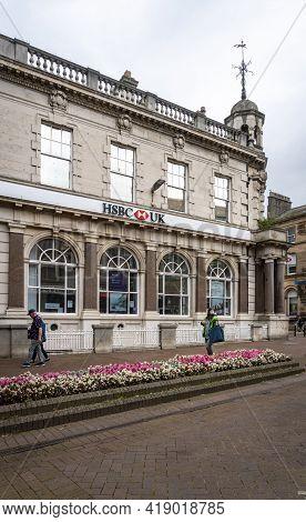 Carlisle, Cumbria, Uk, August 2020 - Bank Building In The City Of Carlisle, Cumbria, Uk