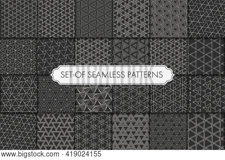 Repeat Linear Graphic White Background Pattern. Seamless Vintage Vector Black Wallpaper Texture. Sea