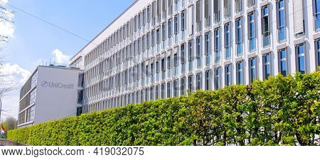 Uni Credit Bank Building In The Financial District Of Luxemburg - Travel Photography - City Of Luxem
