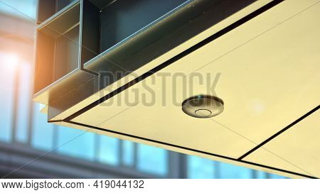 A Fragment Of The Steel And Glass Metal Facade Of Building. Detail Architecture Steel And Glass Faca