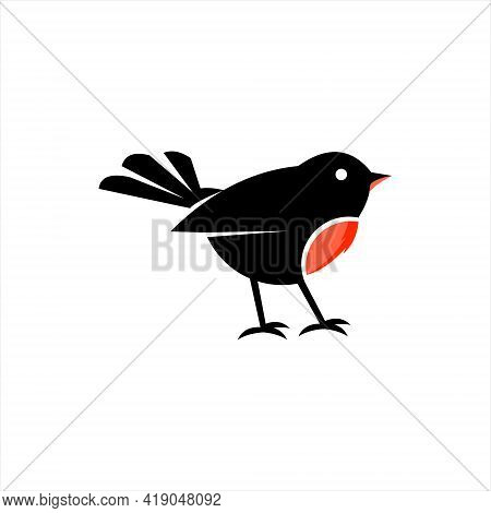 Robin Bird Logo Design Cute Animal Doodle Vector Art And Nature Graphic Element Template And Ideas
