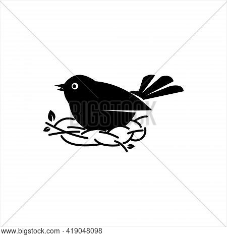 Robin Bird Logo Design Cute Animal Nest Vector Art And Nature Graphic Element Template And Ideas