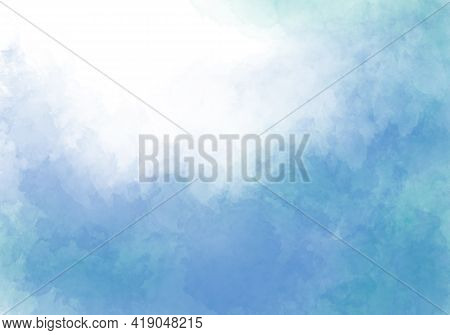 Abstract Blue Watercolor Background. Watercolor Background For Invitations, Cards, Posters. Texture,