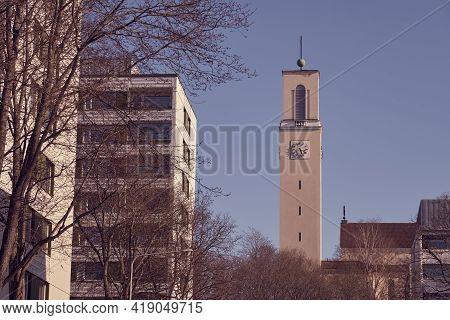 A Clock Tower Of The Martin's Church In Turku, Finland.