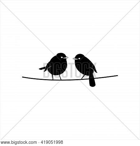 Robin Bird Logo Design Cute Animal Silhouette For Vector Art And Nature Graphic Element Template And