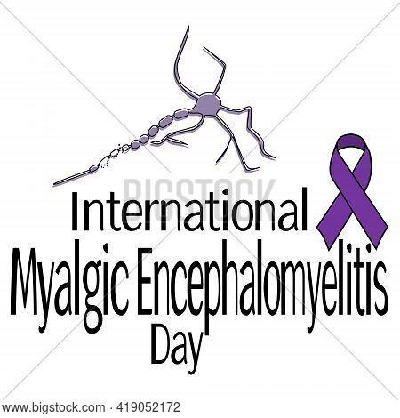 International Myalgic Encephalomyelitis Day, Schematic Representation Of Neurons, A Thematic Ribbon