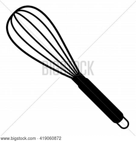 Balloon Whisk For Mixing And Whisking Icon On White Background. Flat Style. Mixing & Whisking Cookin