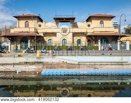 Milan,italy-march 17,2021:headquarters Of The Rowers Milano, Milano, Italy.